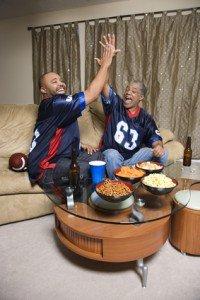 Men watching sports.