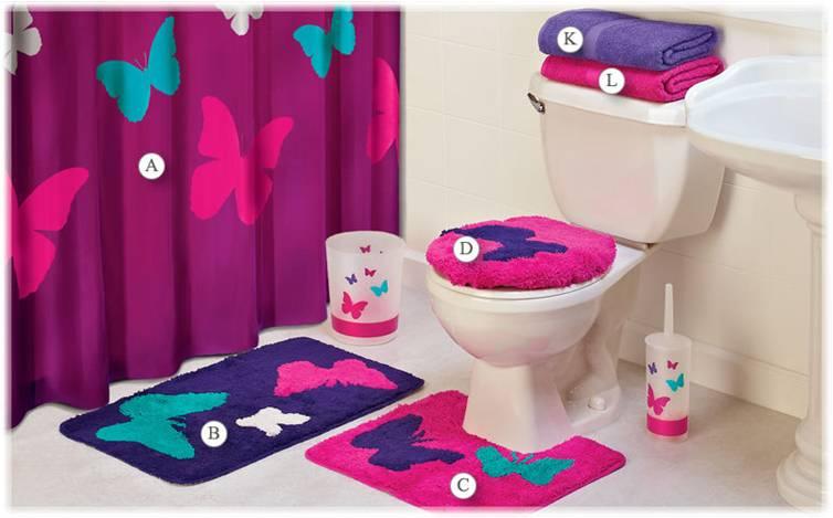 Butterfly Bath Mats