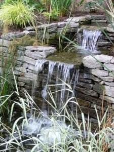 portland landscaper Small double falls 2