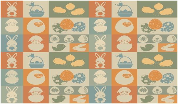 Easter Funny Bunny Wallpaper
