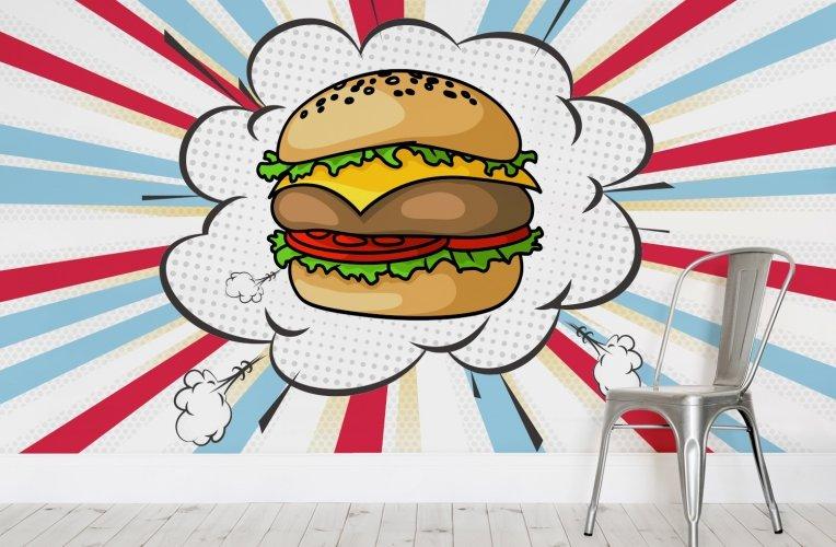 Pop-Art-Burger-Cafe-Chair