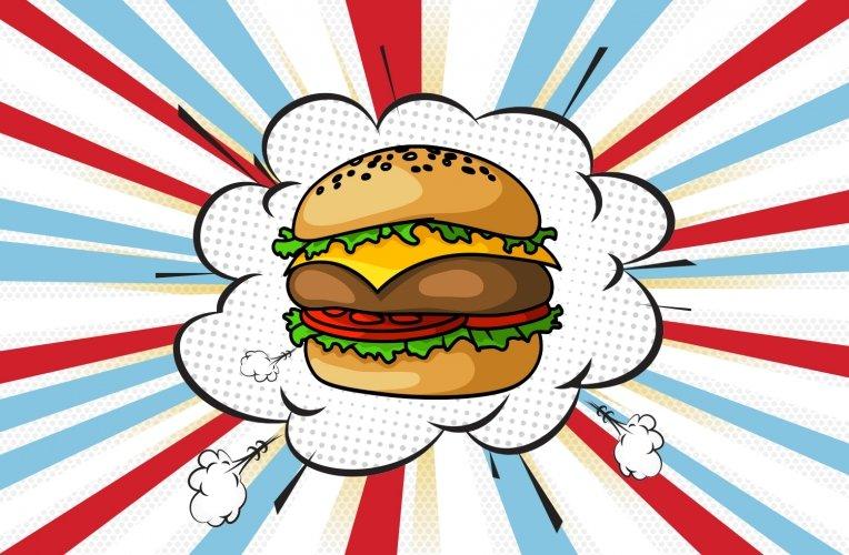 Pop-Art-Burger
