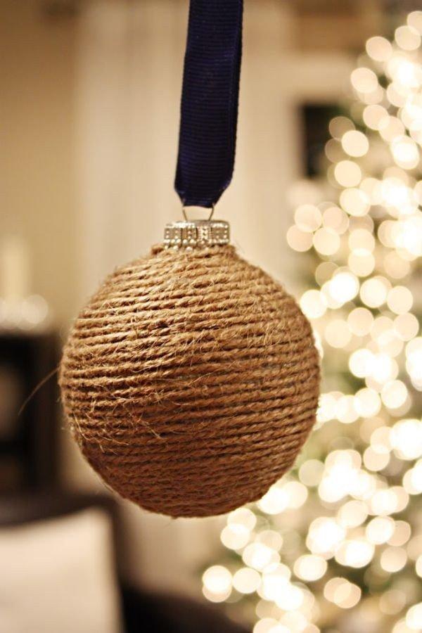 Twine ball Christmas ornament