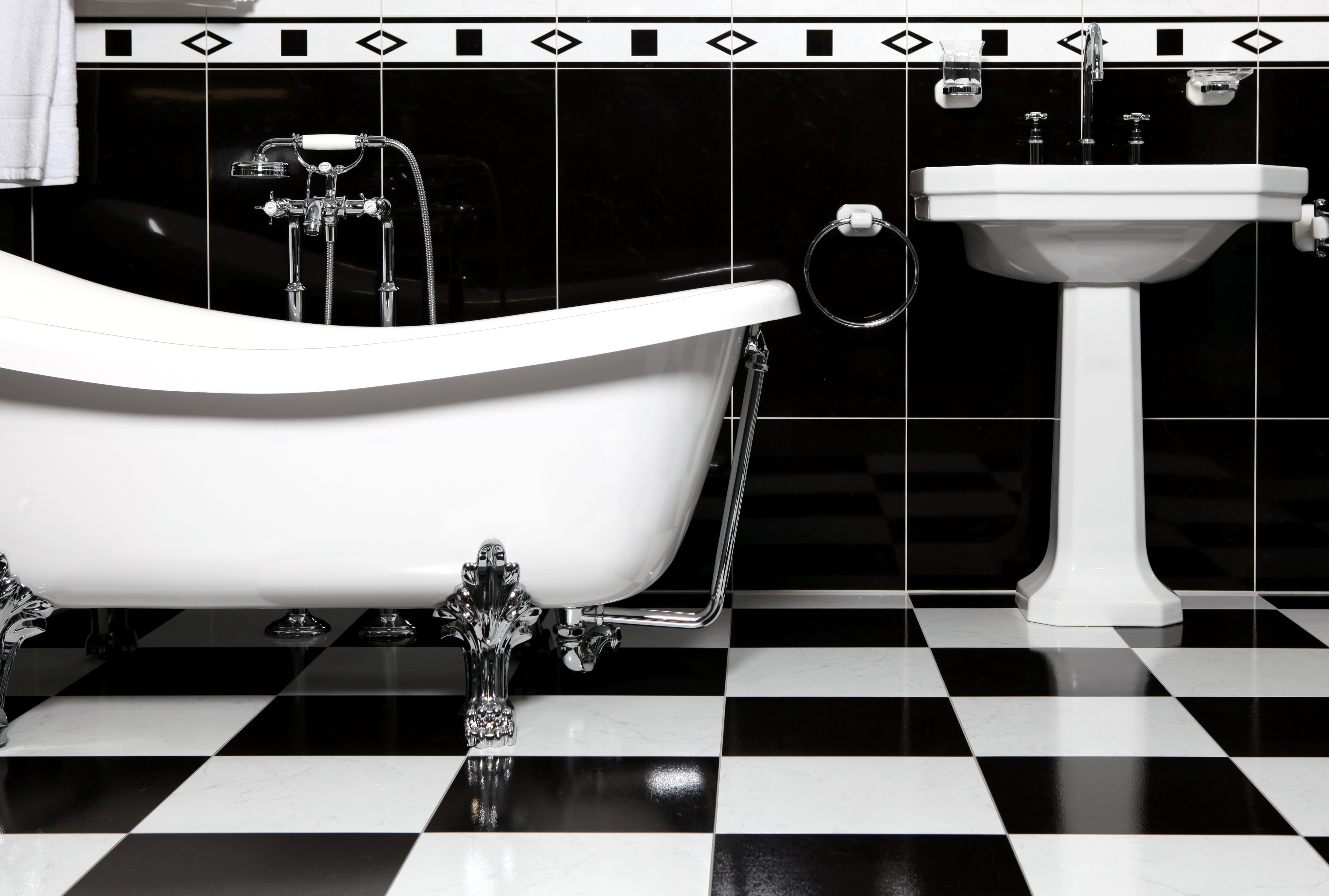 Ways To Remodel Your Bathroom With Night Black Tiles