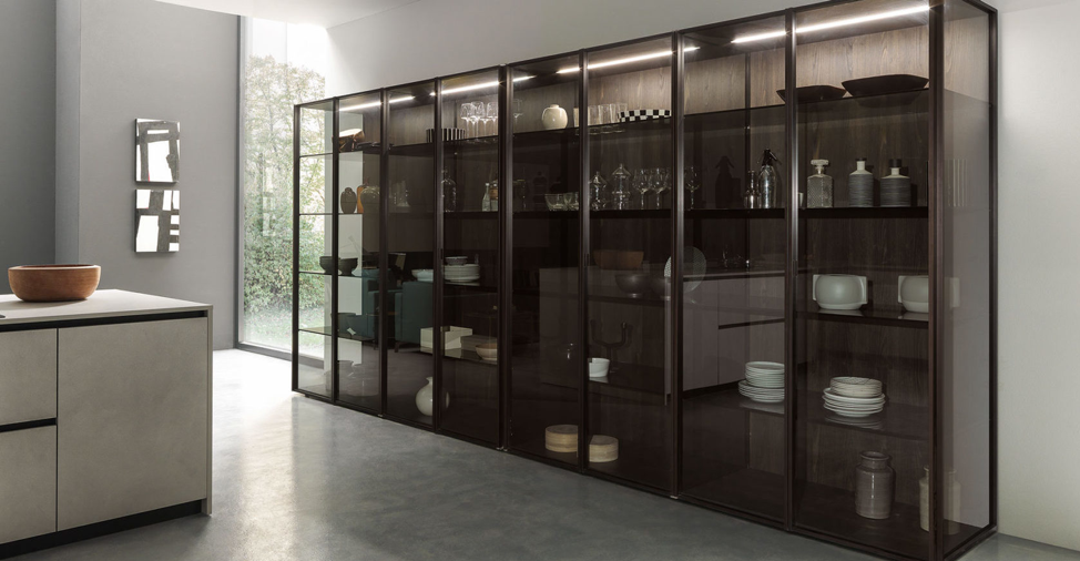 glass cabinets kitchen