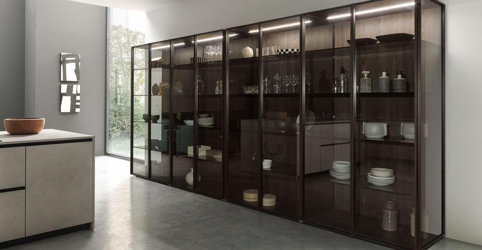 glass cabinets kitchen