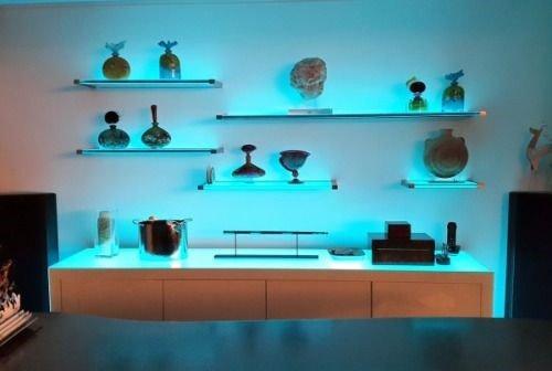 glass shelves for living room