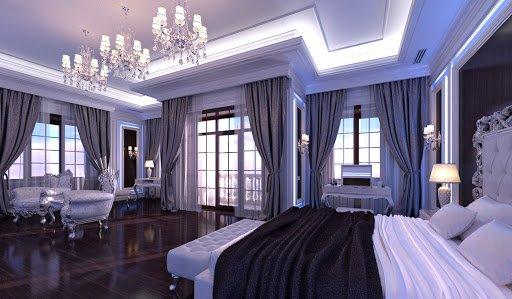 lavish bedroom